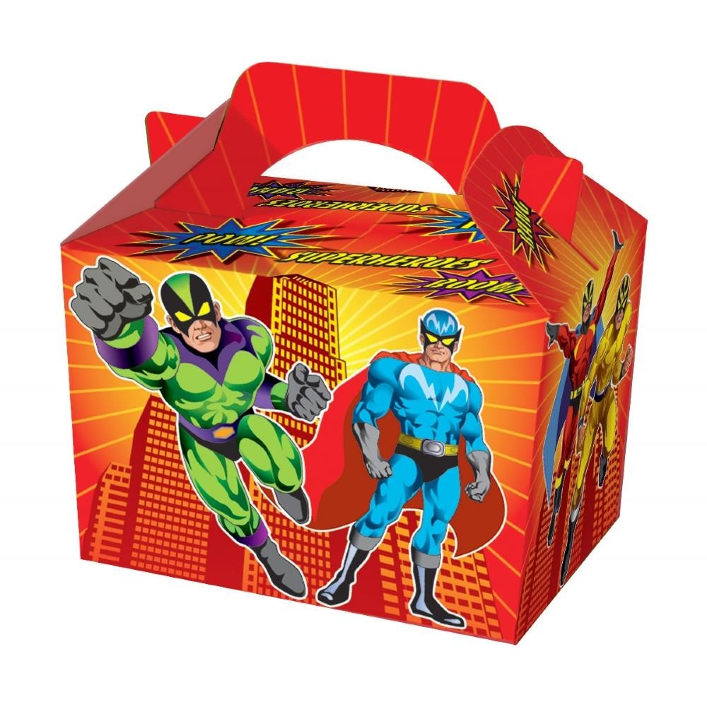 - Superhero Party Food Boxes
