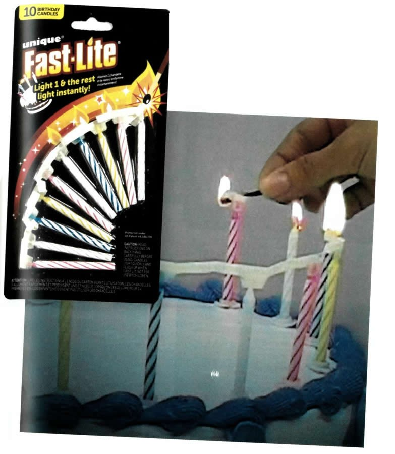 10 Fast Lite Birthday Candles 1958