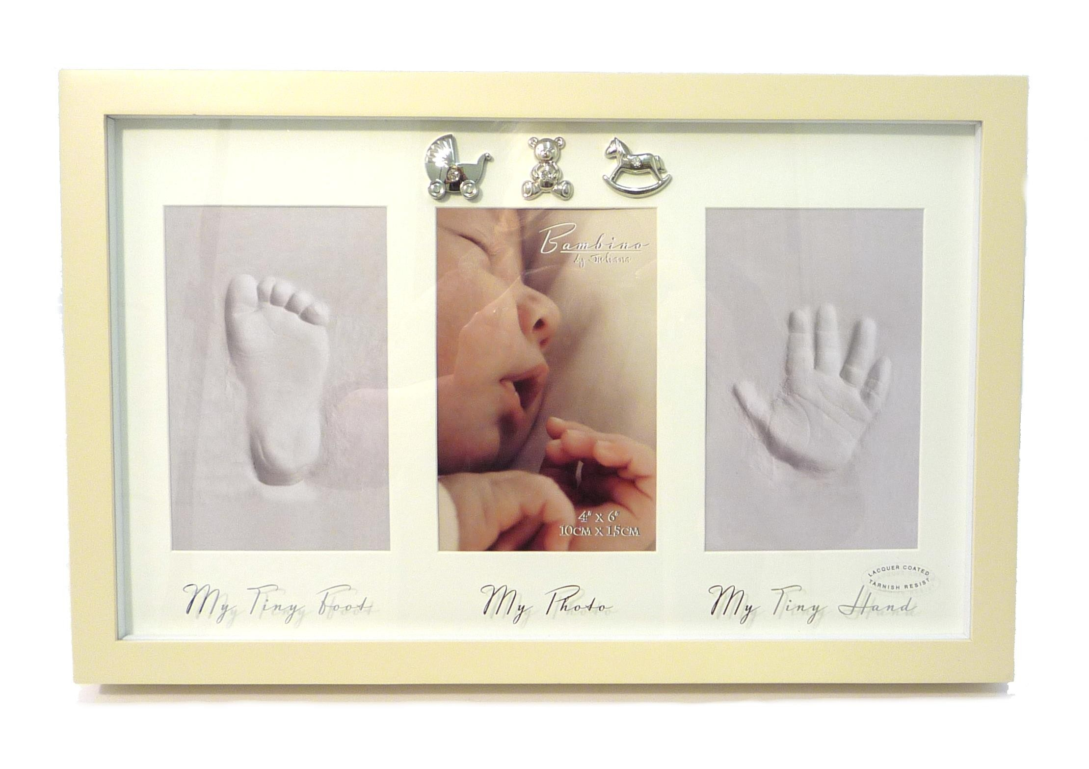 Bambino by Juliana Hand, Foot Print & Frame With 3 Icons - Balloons ...