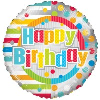 18 Inch Unisex Happy Birthday Foil Balloon