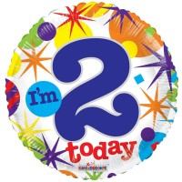 18 Inch I'm 2 Today Foil Balloon