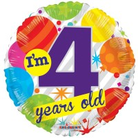 18 Inch I'm 4 Today Foil Balloon
