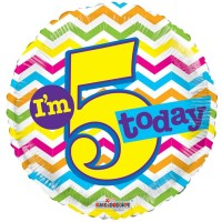 18 Inch I'm 5 Today Foil Balloon