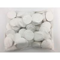 1kg 55mm Circle Paper Confetti - White