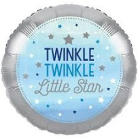 18 inch Twinkle Little Star Blue Birthday Foil Balloon