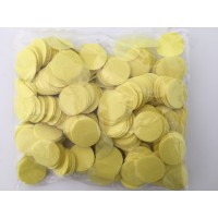 100g 25mm Circle Tissue Confetti - Yellow