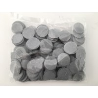 100g 25mm Circle Tissue Confetti - Grey