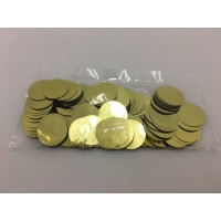 50g 25mm Circle Foil Confetti - Gold