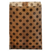 Dots Paper Bag Kraft - 24 Pack