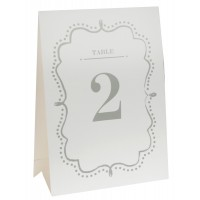 White Table Numbers 1 to 10