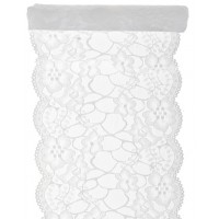 White Premium Lace Table Runner
