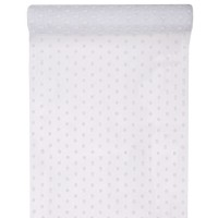 White Dots Table Runner
