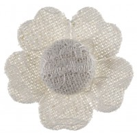 White Adhesive Lace Flower