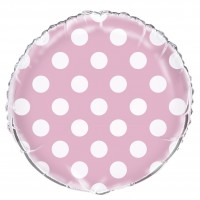 18 Inch Lovely Pink Dot Foil Balloon