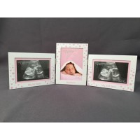 Aluminium Frame 1st Scan & 2nd Scan & Newborn Girl