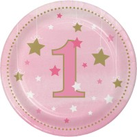 One Little Star - Girl 18cm Plates