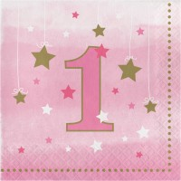 One Little Star - Girl Lunch Napkin