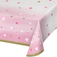 One Little Star - Girl Plastic Tablecover