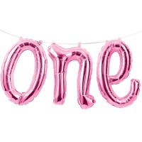 5ft Pink Balloon Banner - One