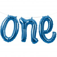 5ft Blue Balloon Banner - One