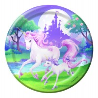 Fantasy Unicorn Dinner Plate