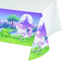 Fantasy Unicorn Plastic Tablecover