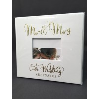 Mr & Mrs Gold Foil Keepsake Box with Drawers