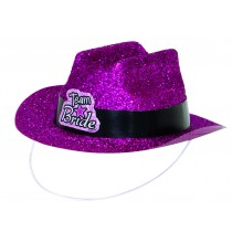 Team Bride Mini Cowboy Hat - Pink