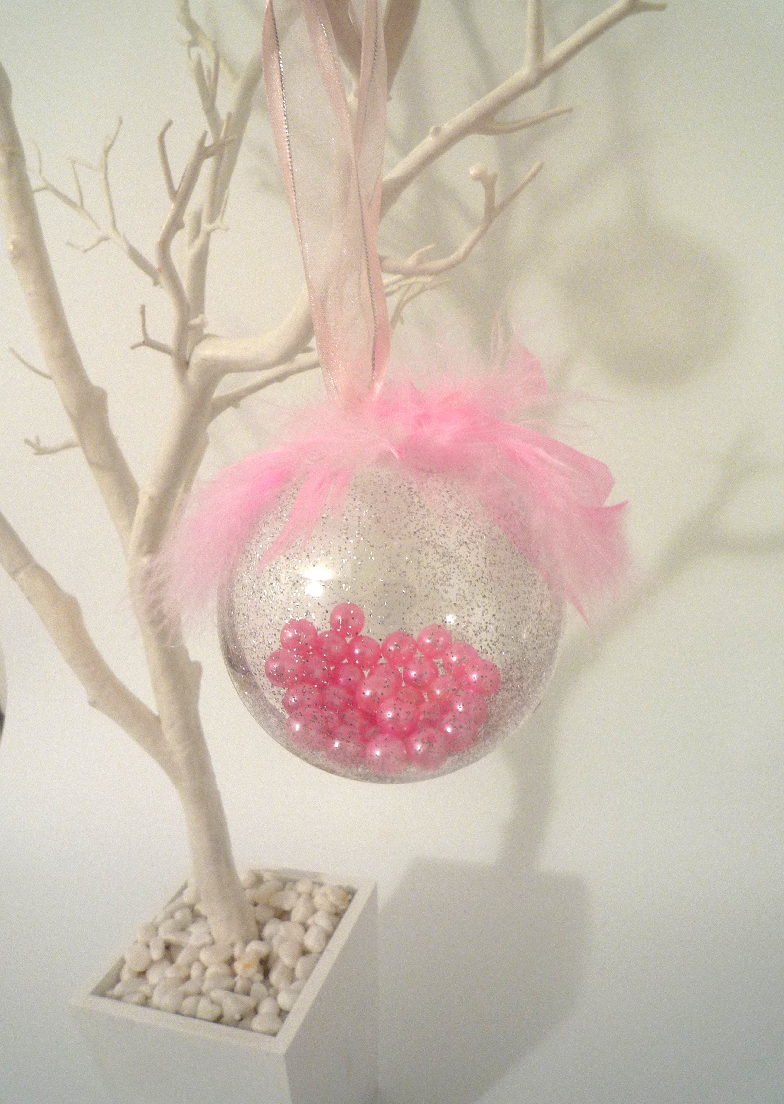 pink pearl bauble